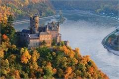 Cảnh sắc mùa thu ở thác nước lớn nhất châu Âu