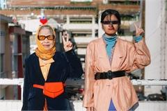 Bà nội U90 chụp ảnh thời trang với cháu gái ở Đà Lạt