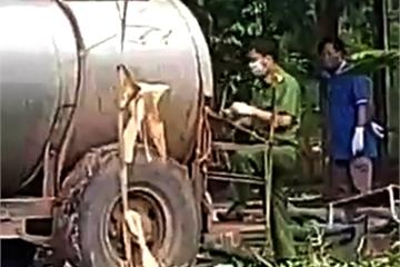 Vợ chồng tử vong trong bồn kim loại