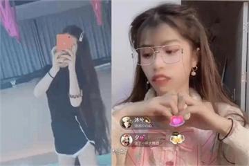 Hot girl TQ lộ mặt thật vì lỡ tay tắt app làm đẹp lúc livestream