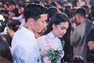 Đoàn Văn Hậu ôm an ủi Doãn Hải My sau chung kết Hoa hậu Việt Nam
