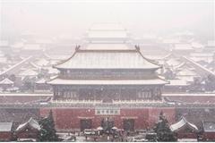 Khung cảnh Bắc Kinh trong trận tuyết đầu mùa