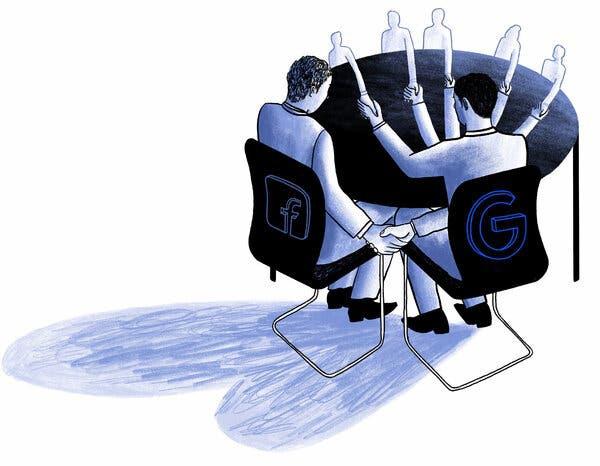 Cú bắt tay bí mật giữa Google và Facebook khiến nhiều bên lo ngại