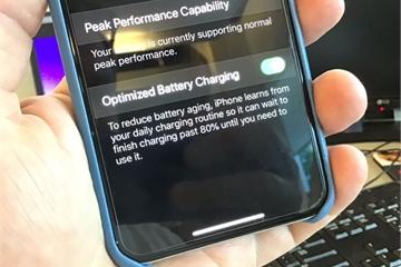 Thay đổi cách sạc để pin iPhone bền hơn