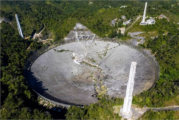 Kính viễn vọng vô tuyến lớn thứ 2 thế giới đổ sập