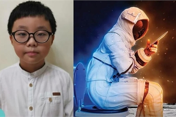Cậu bé 9 tuổi thắng giải thiết kế nhà vệ sinh cho NASA