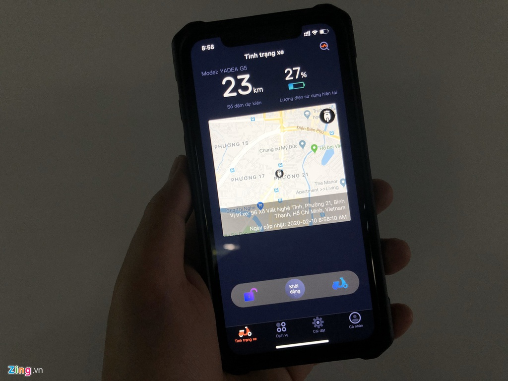 5 mau xe may tai Viet Nam co ket noi voi smartphone hinh anh 3 Yadea_zing_2.jpg