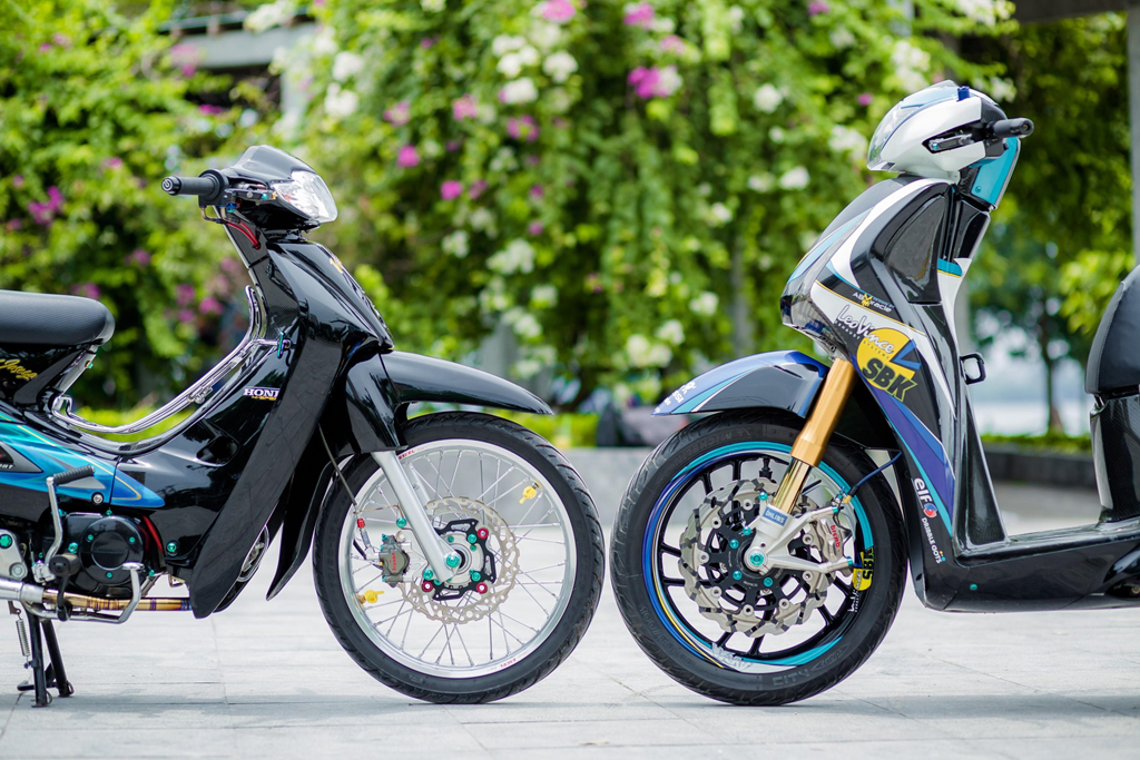 Honda SH 150i voi loat trang bi tri gia nua ty dong cua biker Ha Noi hinh anh 12