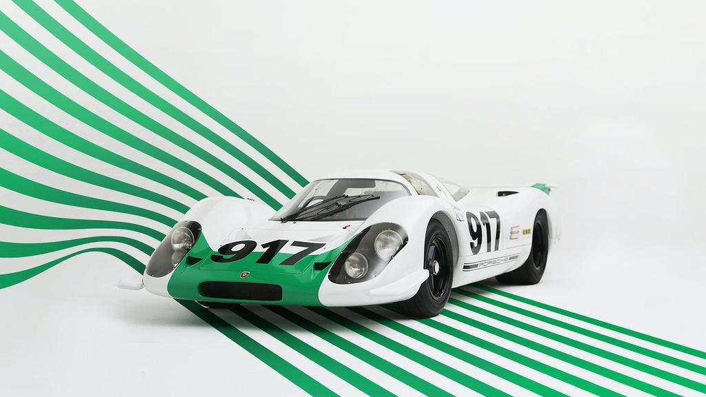 Nhung chiec Porsche 917 noi bat nhat lich su hinh anh 3 Porsche_917_in_green_and_white_launch_livery_1.jpg