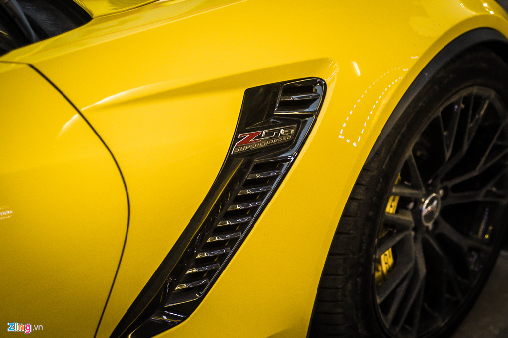 Ngam Chevrolet Corvette C7 Z06 doc nhat Ha Noi xuat hien tren pho hinh anh 7