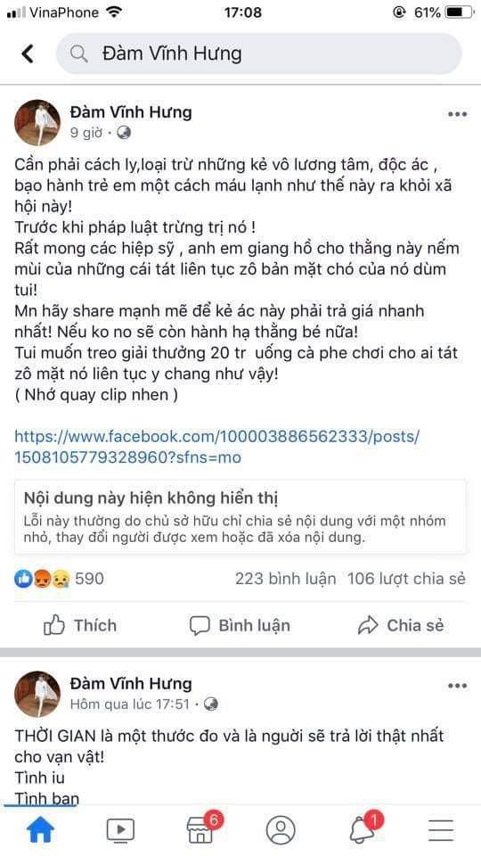 Nghe si noi ve vu Dam Vinh Hung: 'Khong the thich danh nguoi la danh' hinh anh 5