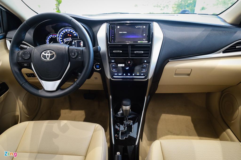 500 trieu dong chon Kia Soluto AT Luxury hay Toyota Vios 1.5E CVT? hinh anh 10 Vios_13_zing.jpg