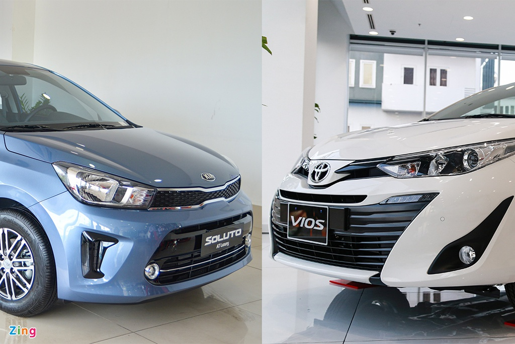 500 trieu dong chon Kia Soluto AT Luxury hay Toyota Vios 1.5E CVT? hinh anh 1 thumb_soluto_vs_vios_zing.jpg