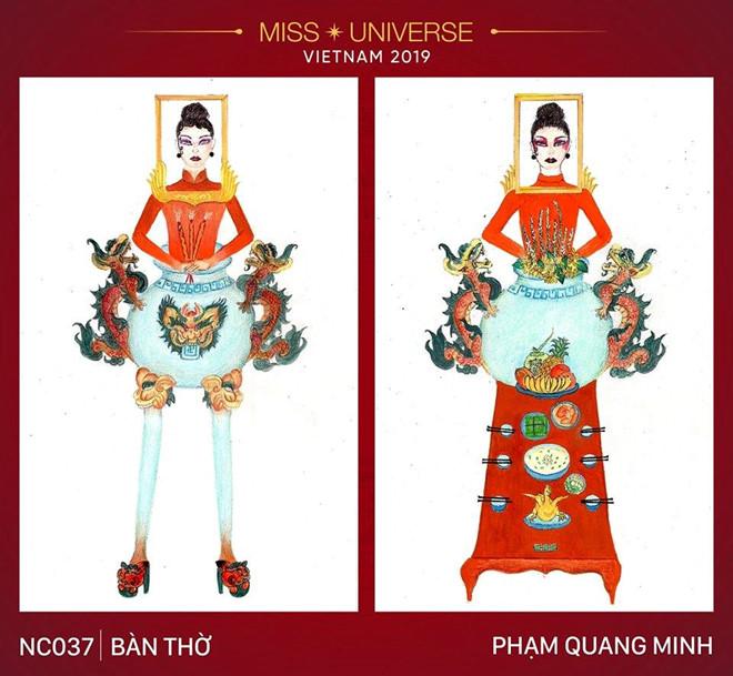 Trang phuc 'ban tho' thiet ke cho Hoang Thuy gay tranh cai du doi hinh anh 1
