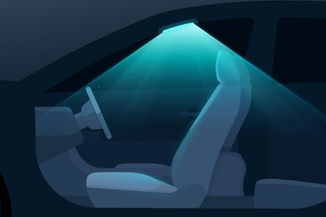 Hyundai gan den tia cuc tim khu trung khoang lai oto hinh anh 1 Hyundai_UV_interior_light.jpg