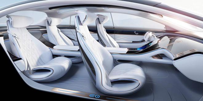 Concept xe dien Mercedes-Benz EQ co noi that kieu phi thuyen vu tru hinh anh 2