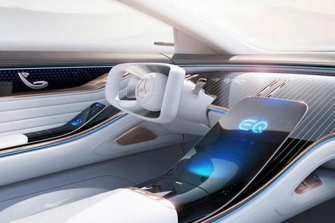 Concept xe dien Mercedes-Benz EQ co noi that kieu phi thuyen vu tru hinh anh 4