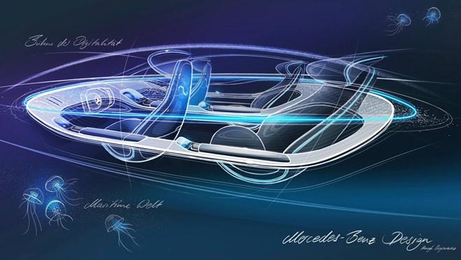 Concept xe dien Mercedes-Benz EQ co noi that kieu phi thuyen vu tru hinh anh 1