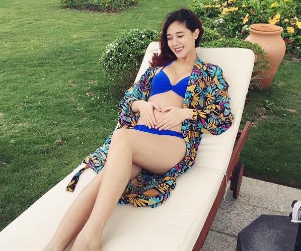 Dan hot girl mang thai lan 2 duoc khen tuoi tan, 'hop mang bau' hinh anh 5