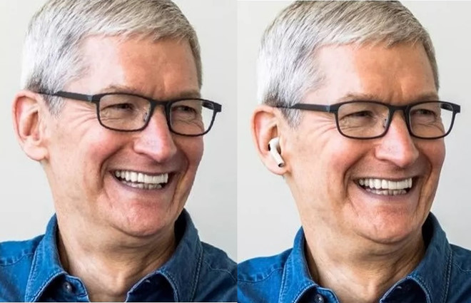 Tim Cook chao don AirPods Pro bang cach thay avatar da qua Photoshop hinh anh 1