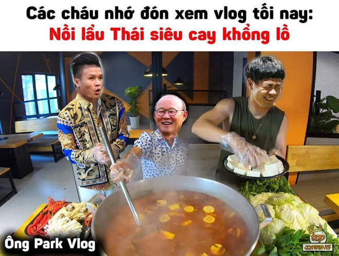 Tran ngap anh che 'lau Thai sieu cay khong lo' ung ho tuyen Viet Nam hinh anh 1