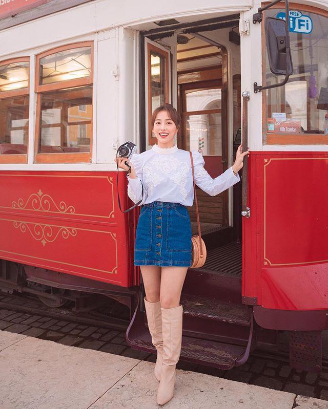 Nu phat thanh vien Han dien do khong phu hop khi quay hinh hinh anh 5 anna_hyunjoo_2.jpg