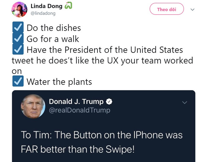 Cuu thiet ke Apple dap lai loi che iPhone cua ong Trump hinh anh 1