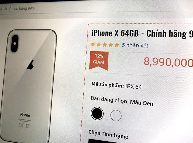 iPhone X qua su dung giam gia anh 1