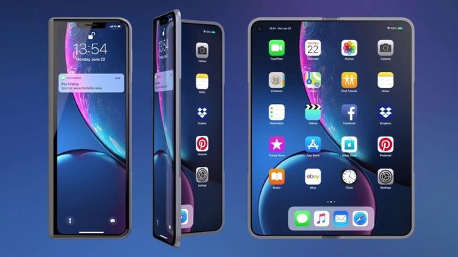 iPhone man hinh gap se su dung 2 man hinh anh 1