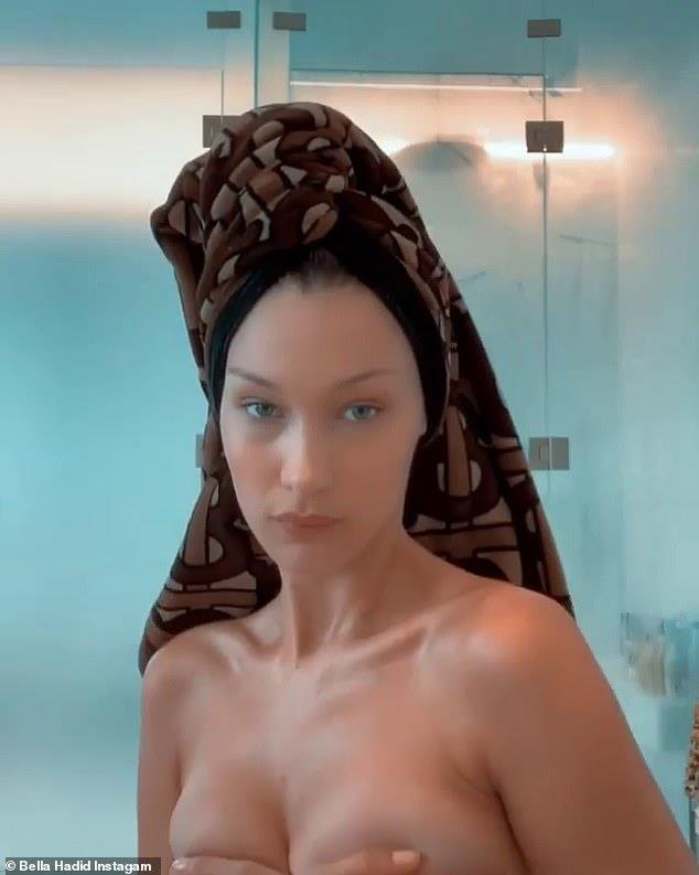 Bella Hadid gay tranh cai khi dang anh ban nude hinh anh 2