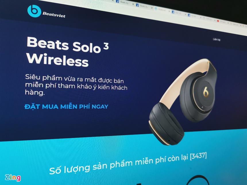 Lua tang tai nghe Beats tren Facebook kiem 100 trieu/ngay o VN hinh anh 1