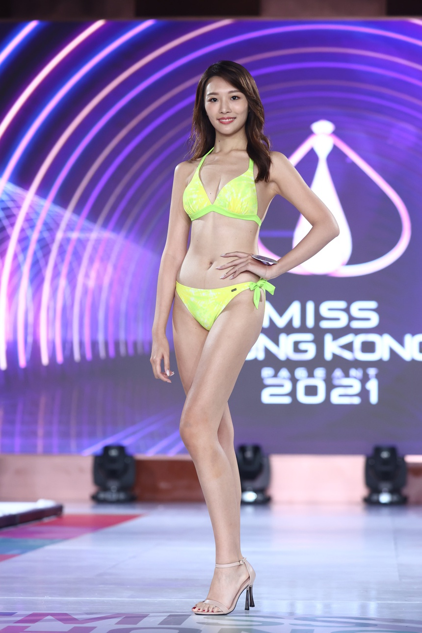 Top 24 Hoa hau Hong Kong dien bikini anh 5