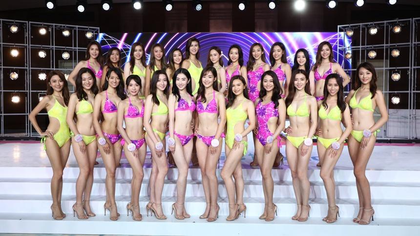 Top 24 Hoa hau Hong Kong dien bikini anh 1