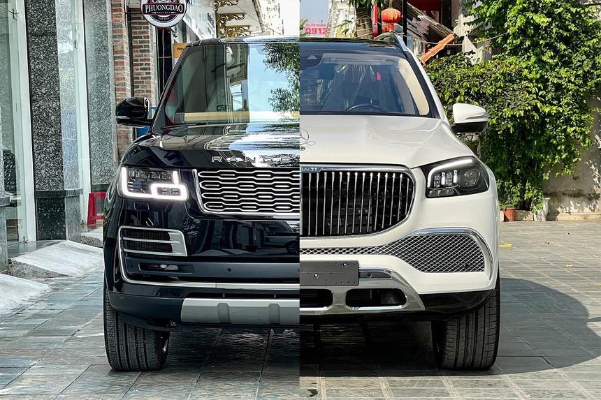 Range Rover va Mercedes-Maybach GLS anh 1